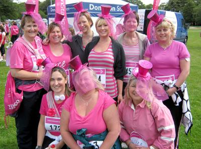 Race for Life 2011 at Scolton Manor near Haverfordwest. 