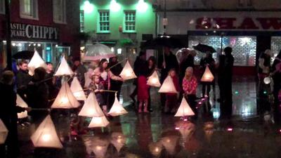 Haverfordwest Halloween lantern parade.