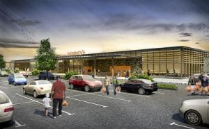 The artist's impression from the WT of the proposed Sainsbury's store for Haverfordwest