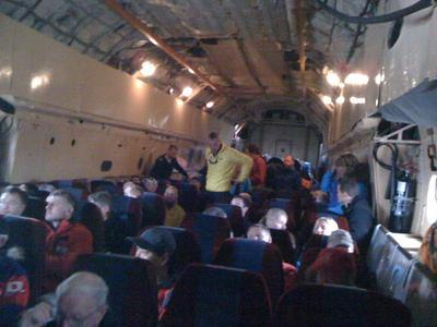 Inside the Russian freight plane