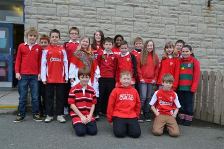 St Davids Day 2012 Hook School
