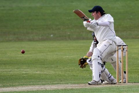 Danny Potter in batting action for Haverfordwest. Picture: Susan McKehon.