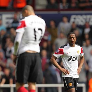 Chris Smalling (left) and Patrice Evra (right)