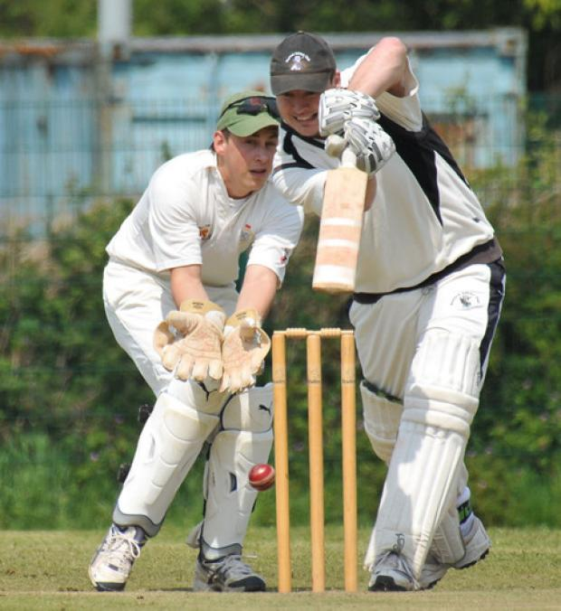 Paul Murray in batting action for Neyland. PICTURE: Ian Miller