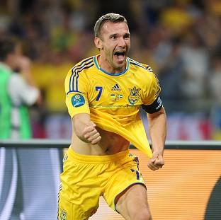 Andriy Shevchenko admitted he felt '10 years younger' after scoring a brace in the victory over Sweden