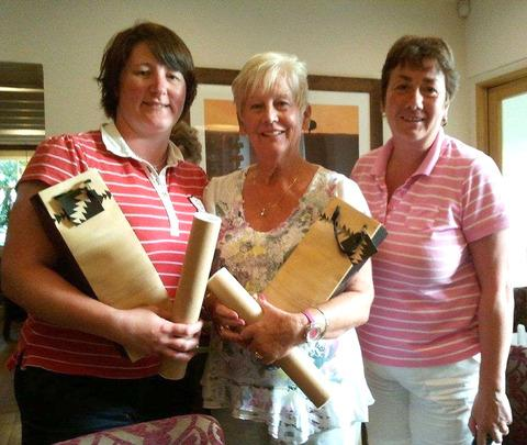 Becky Jones, Ann Williams and Lynne Rees with their awards from the St Davids Open Day.