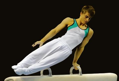 Max Whitlock - in action on the pommel in Liverpool this weekend
