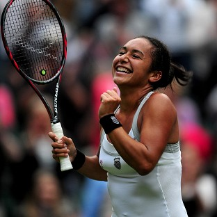 Heather Watson produced an assured display on Centre Court to move into round two