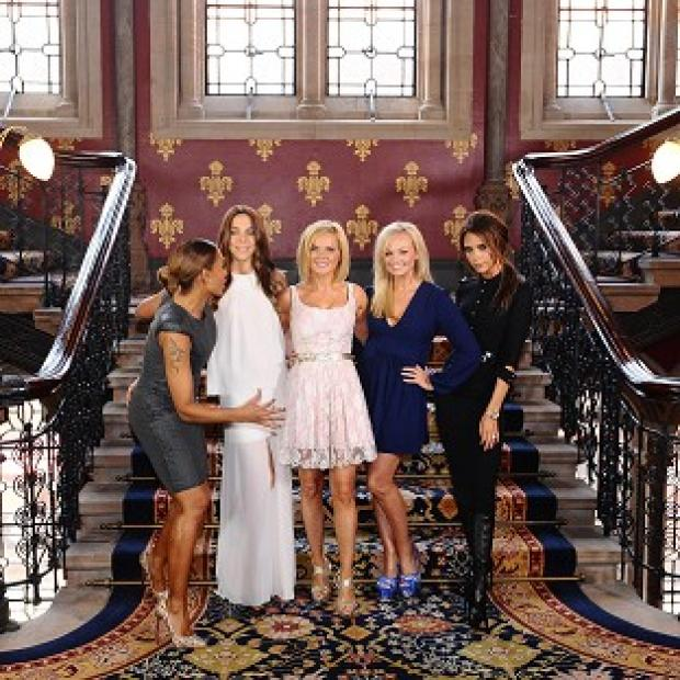 The Spice Girls during a photocall at the St Pancras Renaissance Hotel in London to launch the musical Viva Forever
