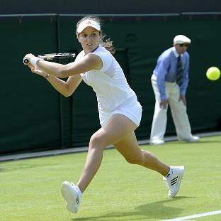 Laura Robson (pictured) lost her Wimbledon first-round match against Francesca Schiavone
