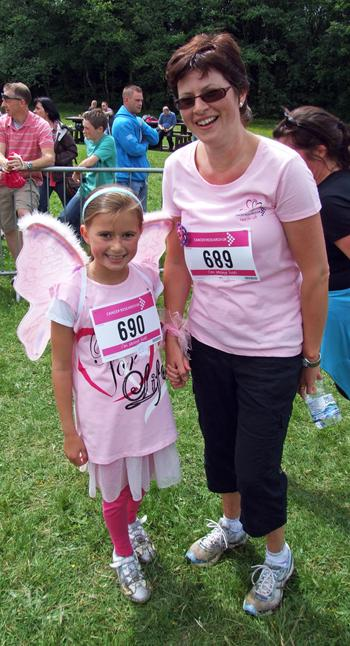 Thousands of women and children of all ages joined this year's Race for Life event at Scolton Manor, near Haverfordwest.