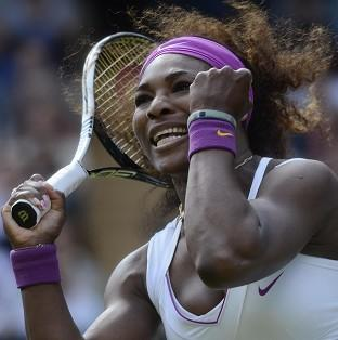 Serena Williams (pictured) edged a thrilling contest with Jie Zheng