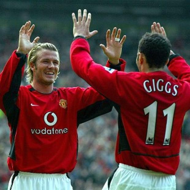 David Beckham (left) and Ryan Giggs, seen here during their days at Manchester United together