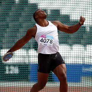 Lawrence Okoye could only manage a best throw of 60.09m