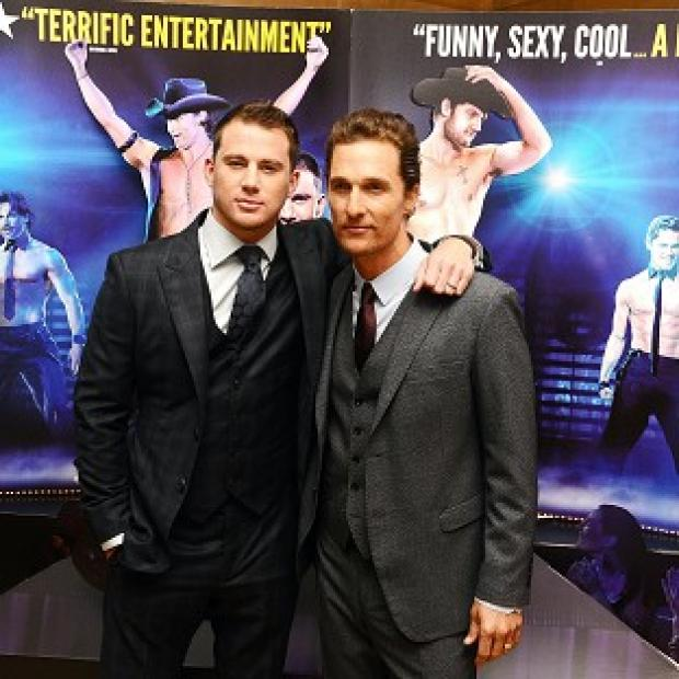 Western Telegraph: Channing Tatum and Matthew McConaughey arriving at a special film screening of Magic Mike