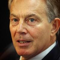 Former Prime Minister Tony Blair says he accepts some responsibility for the state of Britain's economy