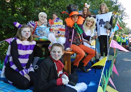 Cracking costumes and fun and laughter filled Narberth on Saturday, July 28th, 2012, for the town's summer carnival parade.