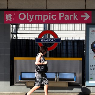 Spectators heading to the Olympic Park were told Tube trains have been suspended