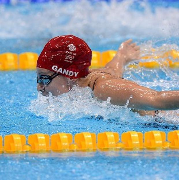 Ellen Gandy did not make it through the 200m butterfly heats