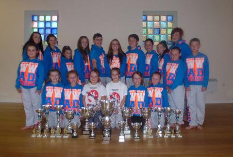 West Wales Academy of Dance who took part in World Freestyle Championships in Blackpool.