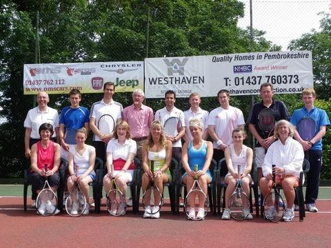 Finalists of the Pembroke shire County Tennis Tournament