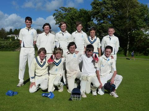 The squad before their game with Mid Glamorgan.
