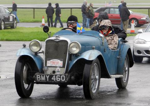 IT'S A CLASSIC: This vintage car was among the vehicles taking part in the 2012 County Run