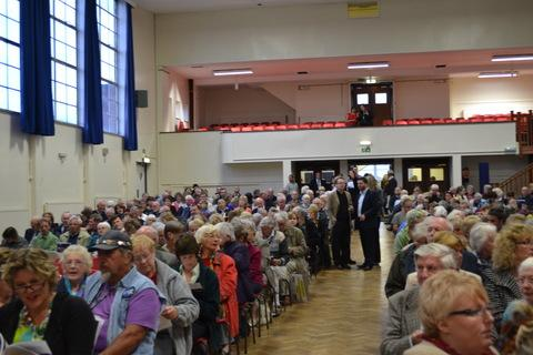 Crowds gathered at Sir Thomas Picton for Hywel Dda's public meeting