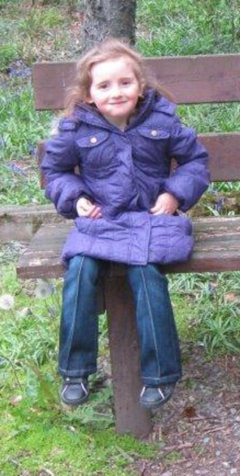 April Jones, 5, was last seen wearing her purple knee-length coat