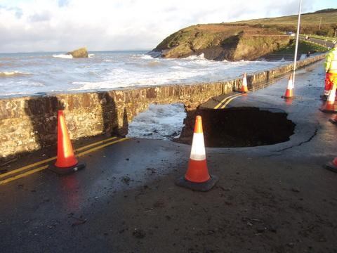 "Pembrokeshire County Council said the road will be closed for ""some time"" PIC: David Lewis"