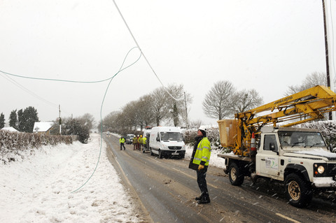 Power lines down Gareth Davies