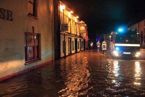Wet wet wet - The River Solva burst its banks on Friday night, affecting more than 50 properties PICTURE: Alun Bowen