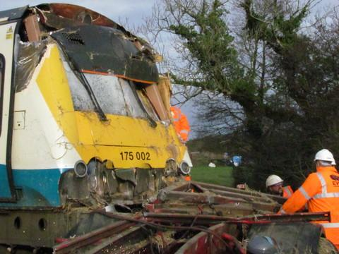 Lorry driver who caused train crash given suspended prison sentence