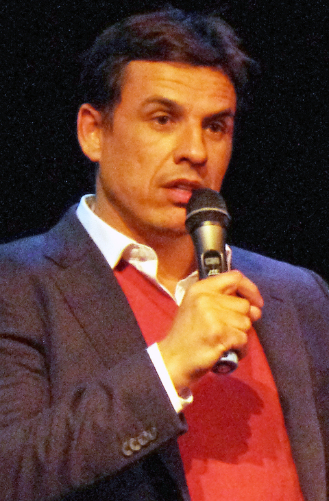 Wales football boss Chris Coleman speaking at Haverfordwest County Football Club's event at Pembrokeshire College