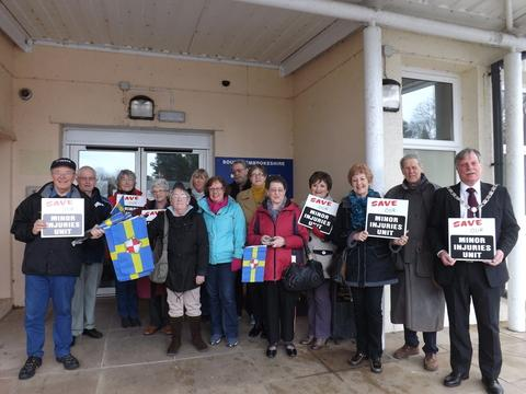 Protesters say no to Pembroke Dock minor injury unit closure