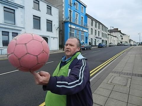 Western Telegraph: Twenty-stone man mountain Andrew Cassidy, aged 50, has become a worldwide internet sensation after he was secretly filmed practicing his incredible soccer skills