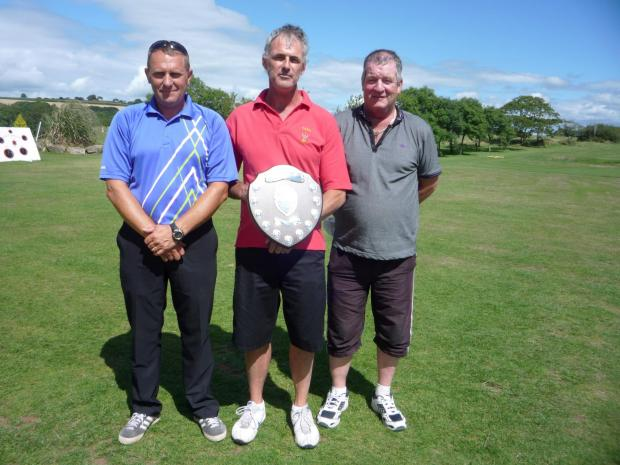 TWO DAY STABLEFORD: Winner for the second year Paul Smith with runners-up Jock Wilson and Scotty Martin. (841281)