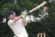 BIG HIT: Morgan Scale - big hitting in vain as Burton collapse at Cresselly (1009480)