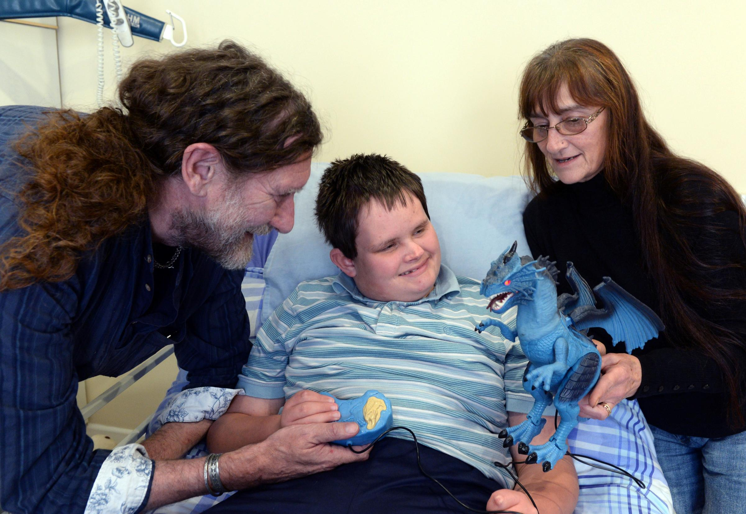 Paul and Sue Rutherford with their grandson Warren Todd