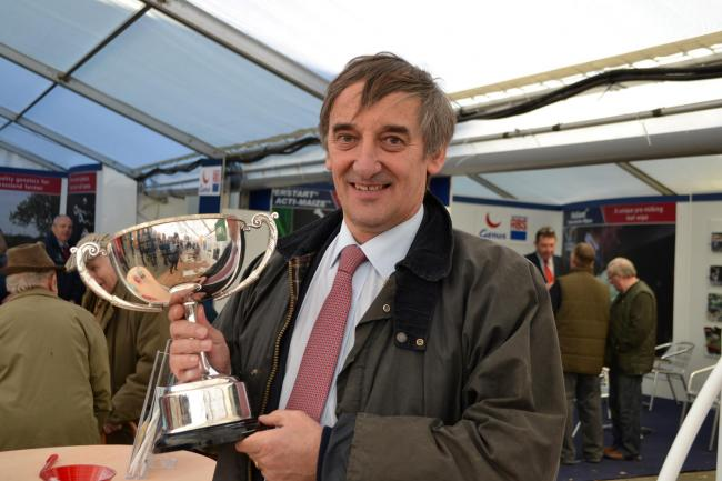 Mansel Raymond, of Jordanston Hall, Letterston, winner of the FUW/Principality award for outstanding contribution to the Welsh dairy industry. (1703528)