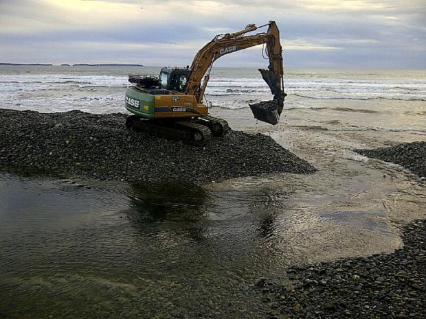 Emergency work at two Pembrokeshire beaches following weekend storms