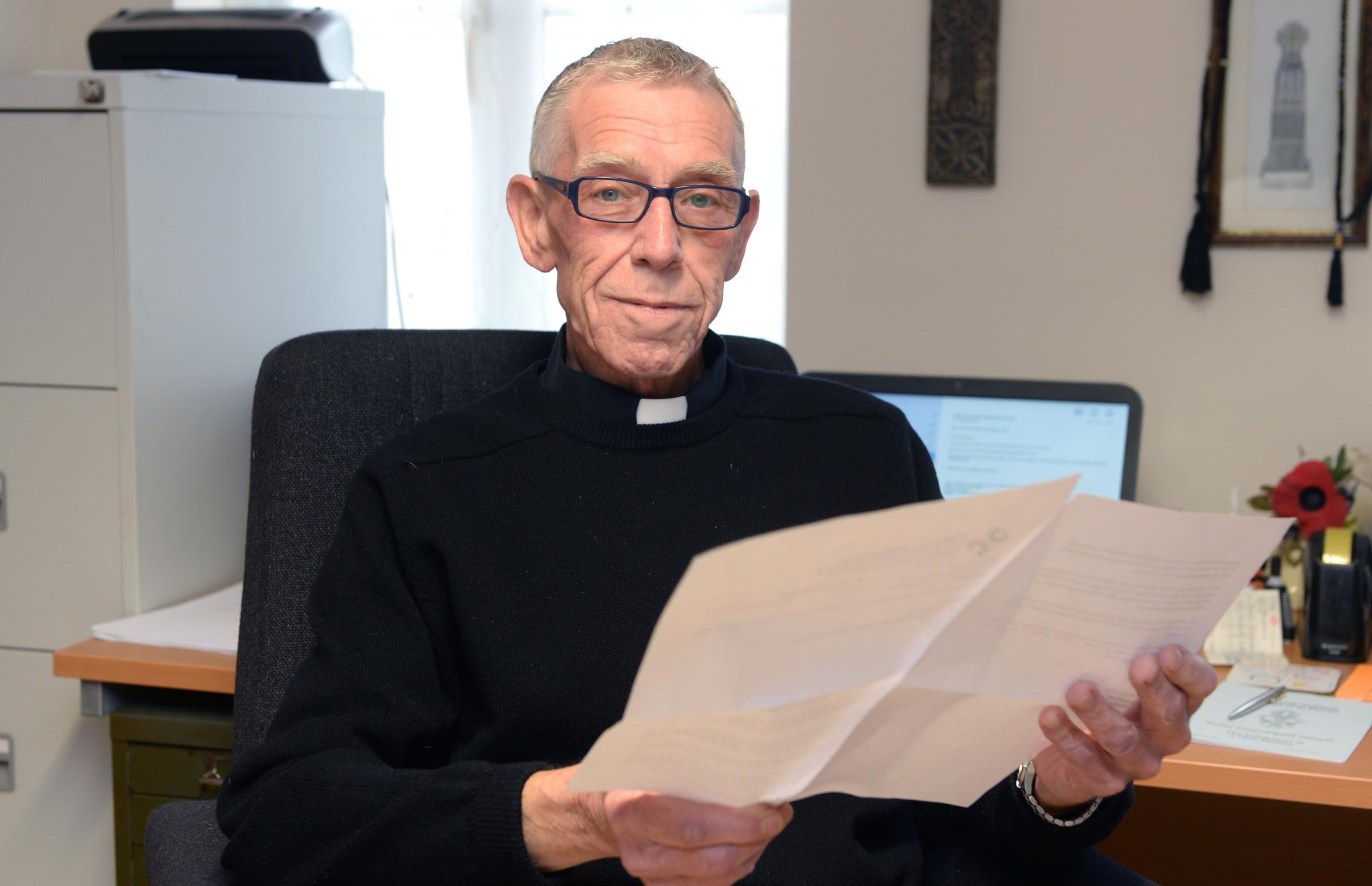 PRIEST'S CONCERNS: The Rev David Hammon, who is receiving treatment for cancer, fears for the future of Withybush Hospital's cancer services.   PICTURE: Gareth Davies Photography  (2552614)
