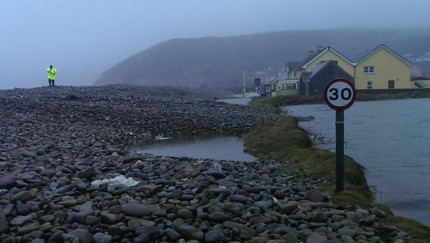Work to clear Newgale road to start on Tuesday morning