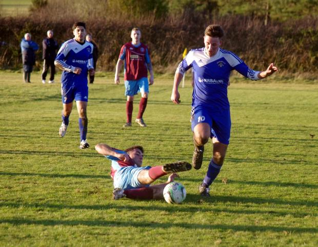 TWO GOAL HERO: Merlins Bridge young striker Daniel Bryce scored twice against the Saint