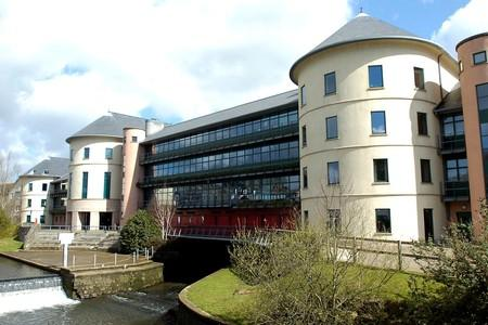 COUNTY HALL: Pembrokeshire County Council's main offices in Haverfordwest.  (3330038)