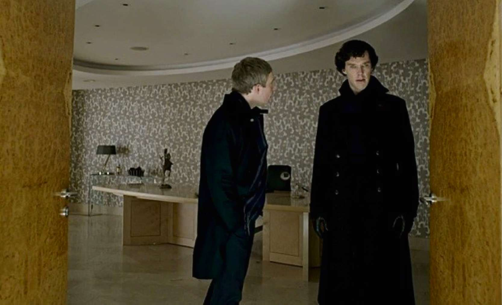STARRING ROLE: Grant Sonnex's leaf dining table featured in the final episode of Sherlock. (3476301)