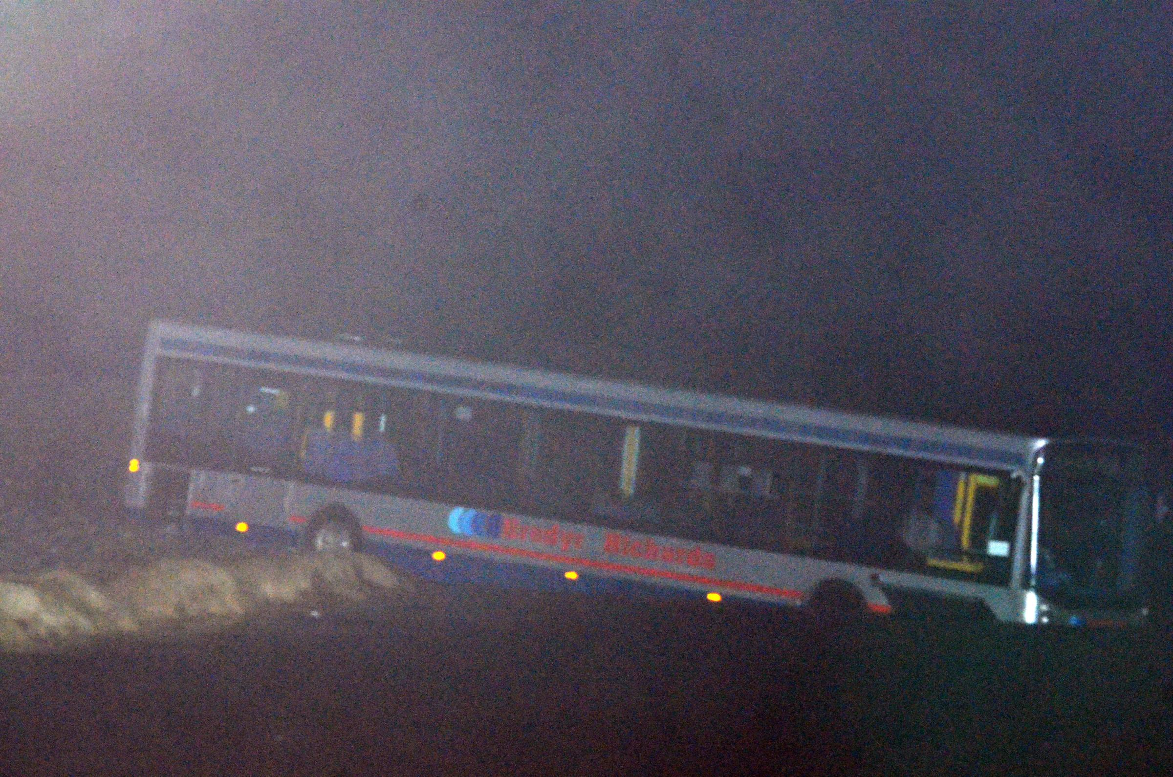 10 rescued after bus hit by wave at Newgale