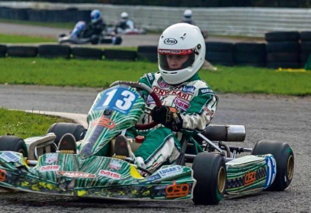 NEED FOR SPEED: Ryan Edwards from Haverfordwest is making a name for himself in the sport of karting. (3606746)