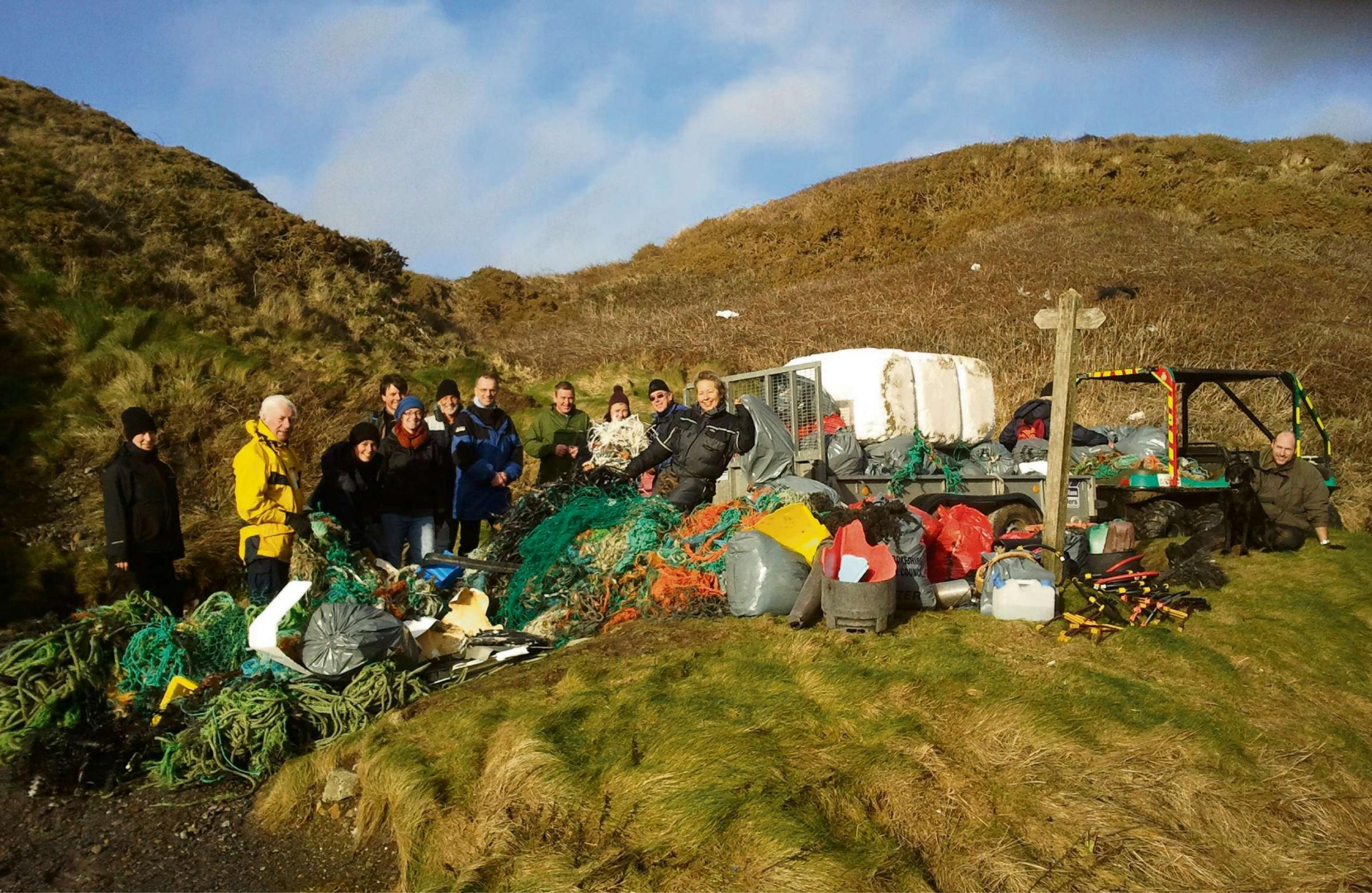 Coastal clean-up nets a ton of rubbish