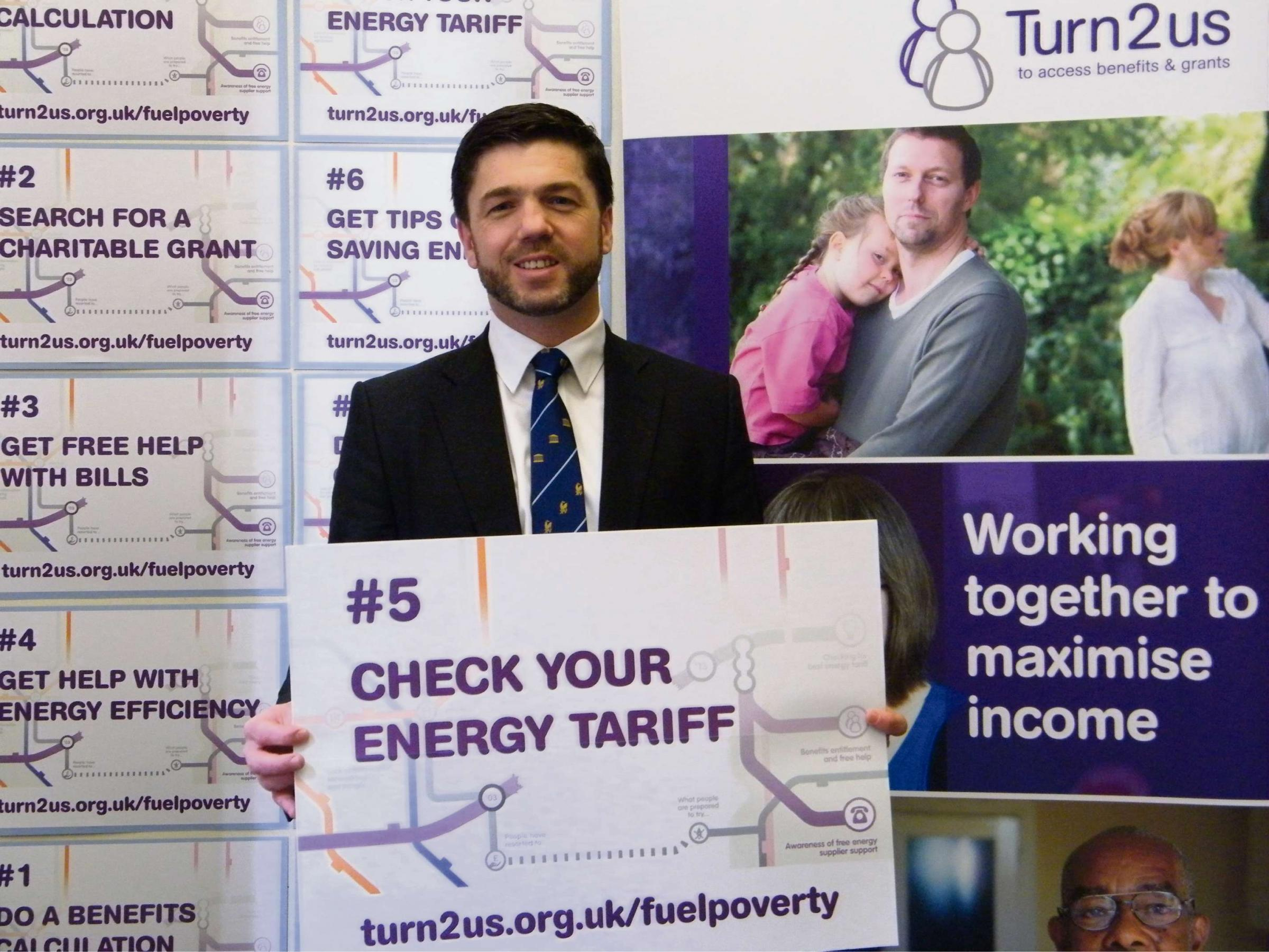 ACT NOW: Stephen Crabb MP is backing Mind the Gap, a campaign run by national charity Turn2us.